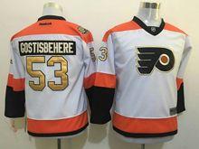 Youth Reebok Philadelphia Flyers #53 Shayne Gostisbehere White 50th Anniversary Premier Jersey