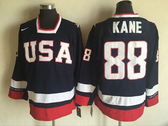 Mens Nhl Team Usa #88 Patrick Kane Blue Jersey