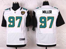 Mens Nfl   Jacksonville Jaguars #97 Roy Miller White Elite Jersey