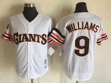 Mens Mlb San Francisco Giants #9 Matt Williams White Throwbacks Jersey