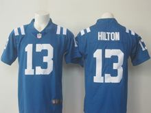 Mens   Indianapolis Colts #13 T.y. Hilton Blue Color Rush Limited Jersey