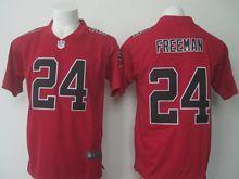 Mens Nfl Atlanta Falcons #24 Devonta Freeman Red Color Rush Limited Jersey