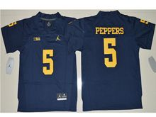 Youth Ncaa Nfl Jordan Brand Michigan Wolverines #5 Jabrill Peppers Navy Blue Limited Jersey