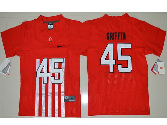 Youth Ncaa Nfl Ohio State Buckeyes #45 Archie Griffin Red Alternate Elite Jersey