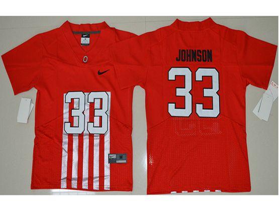 Youth Ncaa Nfl Ohio State Buckeyes #33 Pete Johnson Red Alternate Elite Jersey