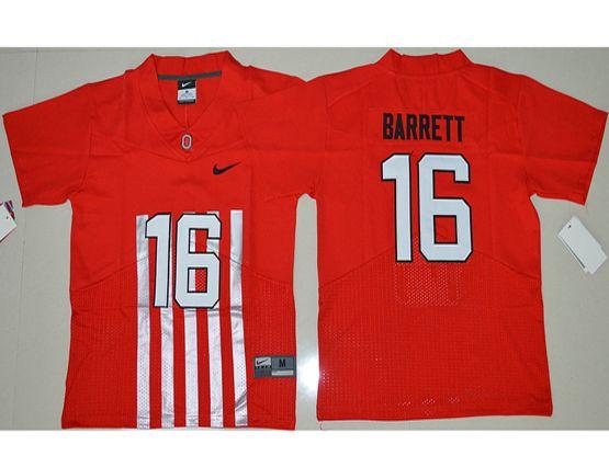 Youth Ncaa Nfl Ohio State Buckeyes #33 J.t Barrett Red Alternate Elite Jersey