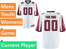 Nfl Atlanta Falcons White Game Jersey