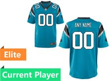 Mens   Carolina Panthers Blue Elite Jersey