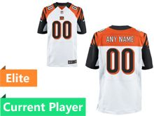 Mens Cincinnati Bengals White Elite Jersey