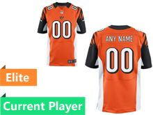 Mens   Cincinnati Bengals Orange Elite Jersey