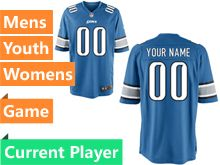 Mens Women Youth Indianapolis Colts Blue Game Jersey