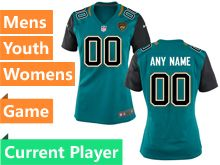 Mens Women Youth Jacksonville Jaguars Green Game Jersey