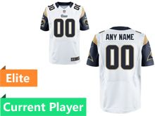 Mens Los Angeles Rams White Elite Jersey