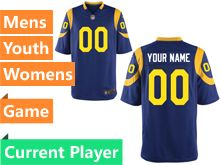 Nfl Los Angeles Rams Royal Blue Game Jersey