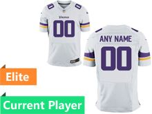 Mens Minnesota Vikings White Elite Jersey