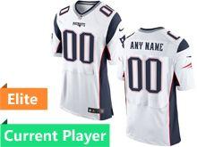 Mens New England Patriots White Elite Jersey