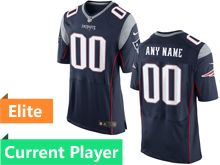 Mens New England Patriots Blue Elite Jersey