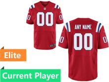 Mens New England Patriots Red Elite Jersey