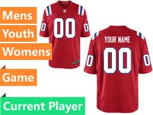 Nfl New England Patriots Red Game Jersey