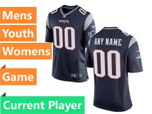 Nfl New England Patriots Blue Game Jersey