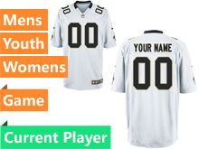 Nfl New Orleans Saints White Game Jersey