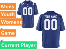 Nfl New York Giants Blue Game Jersey