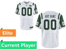 Mens New York Jets White Elite Jersey