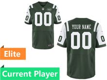 Mens New York Jets Green Elite Jersey