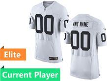 Mens Oakland Raiders White Elite Jersey
