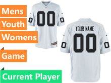 Nfl Oakland Raiders White Game Jersey