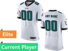 Mens Philadelphia Eagles White Elite Jersey