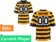 Mens Pittsburgh Steelers Yellow Stripe Elite Jersey