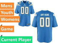 Nfl Los Angeles Chargers Light Blue Game Jersey