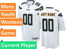 Nfl Los Angeles Chargers White Game Jersey