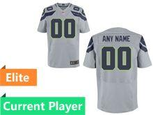 Mens Seattle Seahawks Gray Elite Jersey