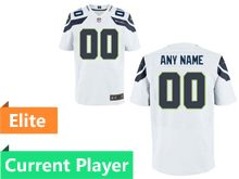 Mens Seattle Seahawks White Elite Jersey