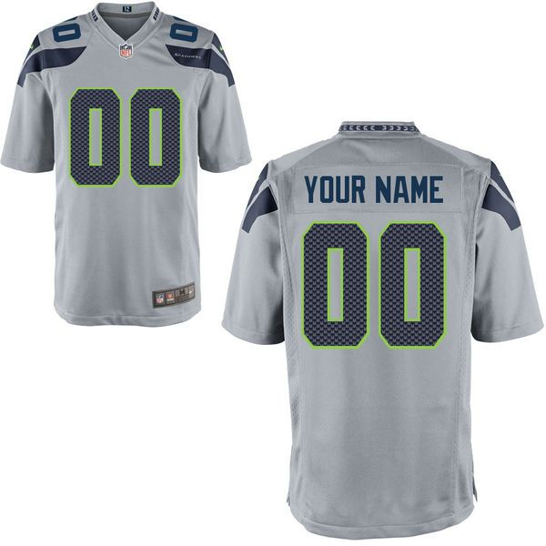 Nfl Seattle Seahawks Gray Game Jersey
