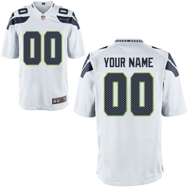 Nfl Seattle Seahawks White Game Jersey