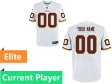 Mens Washington Redskins White Elite Jersey