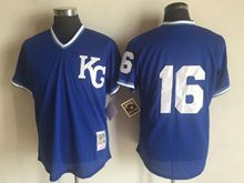 Mens Mlb Kansas City Royals #16 Paulo Orlando(kc No Name) Blue Jersey