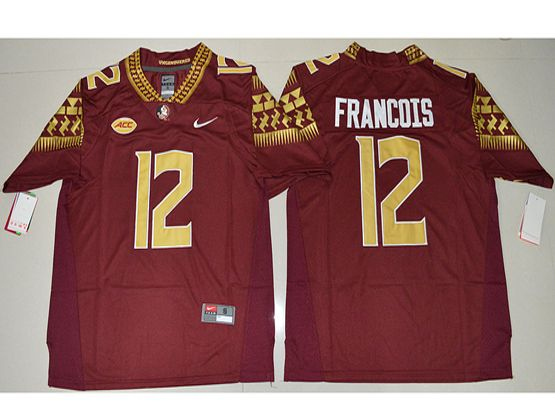 Mens Ncaa Nfl Florida State Seminoles #12 Deondre Francois Red Limited Jersey