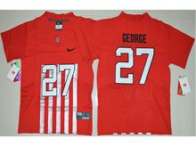 Youth Ncaa Nfl Ohio State Buckeyes #27 Eddie George Red Alternate Elite Jersey