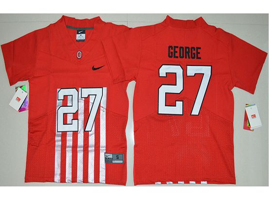 Youth Ncaa Nfl Ohio State Buckeyes #27 Eddie George Red Alternate Elite Jersey
