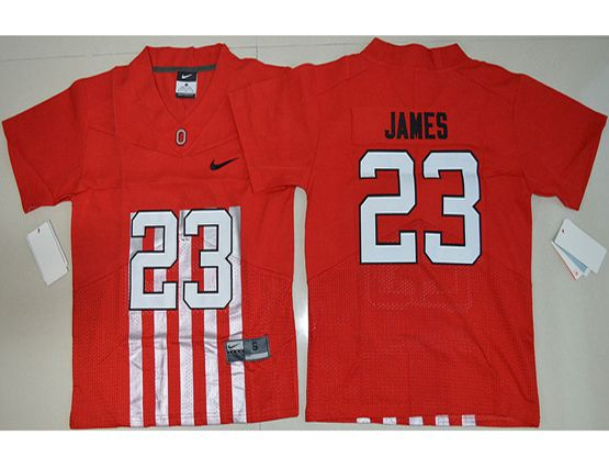 Youth Ncaa Nfl Ohio State Buckeyes #23 Lebron James Red Alternate Elite Jersey