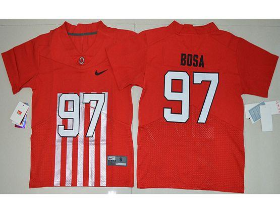Youth Ncaa Nfl Ohio State Buckeyes #97 Nick Bosa Red Alternate Elite Jersey