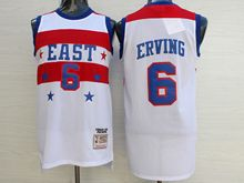 Mens Nba 1980 All Star Philadelphia 76ers #6 Julius Erving White Jersey