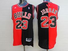 Mens Nba Chicago Bulls #23 Michael Jordan Blank And Red Jersey