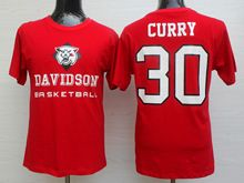 Mens Ncaa Nba Davidson Wildcat #30 Stephen Curry Red Jersey