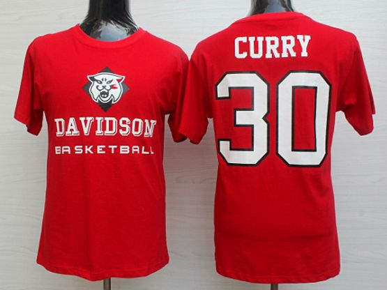 Mens Ncaa Nba Davidson Wildcat #30 Stephen Curry Red Jersey
