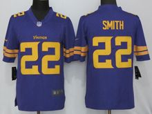 Mens   Minnesota Vikings #22 Harrison Smith Purple Color Rush Limited Jersey